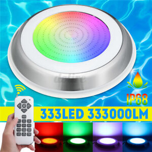 54W 333LED RGB Underwater Swimming Pool Light IP68 Remote Control Fountain Light