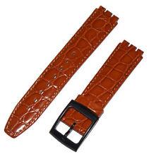 Orologi bracciale compatibile per Swatch krokob Raun 17 mm vera pelle