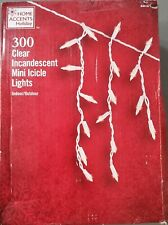 home accents holiday 300-light clear icicle lights