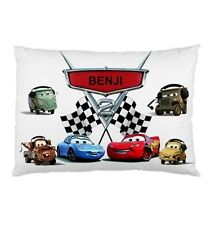 Disney CARS personalized kids childrens bed pillow cushion case cover
