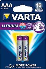1x2 Varta Professional Lithium micro AAA LR 03 #0399