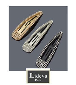 XXL Haarclips 10 cm Haarspangen Lideva Paris Haarklammern Haarschmuck Strass