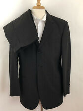Men's HUGO BOSS Brown Wool Nylon Pinstripe Two Piece Suit 40S
