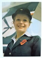 LOT Polish Airlines official postcard stewardess