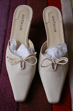 NEW Pale White/Cream Wedding Mules by ANN TAYLOR US 8M (UK 6)