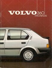 Volvo 360 Hatchbacks 1984-85 UK Market Sales Brochure 300 Series GLS GLT