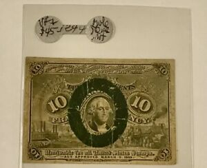 FRACTIONAL CURRENCY 10c F-1244  RARE  FIRM PAPER  ON SALE!