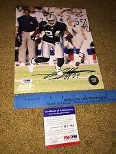 CHARLES WOODSON SIGNED AUTOGRAPHED 8X10 PHOTOGRAPH OAKLAND RAIDERS-PSA/DNA COA