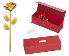 Goldene Gold Rose mit Gravur  Jahrestag Hochzeit Geburtstag Ewige Liebe Geschenk