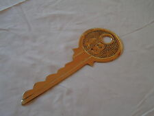 18 Birthday Good Luck Large Brass Yale Key - Card / Celebration /Present / Gift