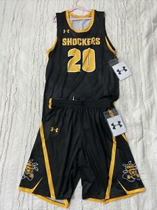 Whichita State Shockers #20 Under Armour Showtime Basketball Jersey & Shorts L