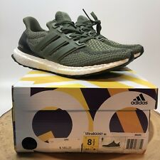 ADIDAS ULTRA BOOST M 2.0 Army Olive Green WHITE CORE BLACK NMD R1 BB6055 Sz 8.5