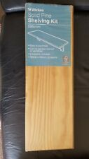 Wickes Solid Pine Shelving Kit 585 x 190mm