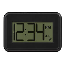 M80307 La Crosse Technology Digital Wall Clock with IN Temperature & Timer