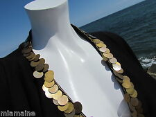 NEW M REEM Acra top jacket black coins asymmetrical sweater exotic sexy cruise