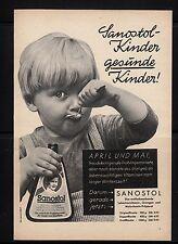3w151/ Alte Reklame - ca. 1960 - SANOSTOL Kinder - gesunde Kinder