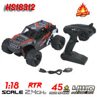 HS18312 1/18 45km/h High Speed 2.4G RC 4WD Racing Car RC Model Off-road Vehicle