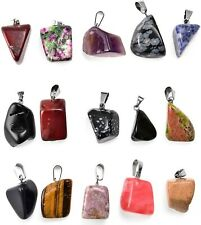 4 Gemstone Charm Dangles Assorted Lot Bead Drops Set Mixed Pendants Set