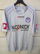 VINTAGE Maillot TOULOUSE FC TéFéCé gris LOTTO shirt football supporter XL