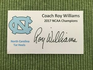 Roy Williams Signed Custom Business Card UNC HOF Autograph NCAA Champion 2017