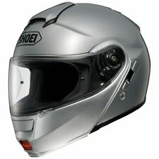 Shoei Neotec Modular Motorcycle Riding Helmet w/ Sun Shield Light Silver Large