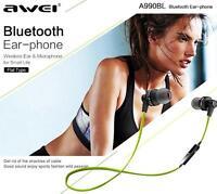 Awei A990BL Wireless Sports Bluetooth Noise Isolation Stereo Earphone Sweatproof
