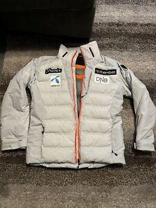 PHENIX Sponsored Ski Coat Jacket Light Gray Mens Size Small/48 See Photos Down