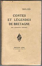 CADIC - CONTES ET LEGENDES DE BRETAGNE - LIVRE ANCIEN XXème BRETAGNE