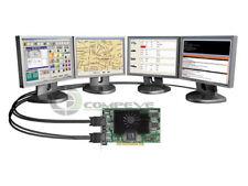 Matrox G450 G45X4QUAD-B 4 Monitors PCI VIDEO CARD 128 MB DDR+ 2 x  cables new