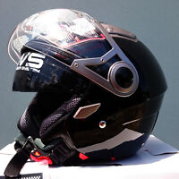 Open face road helmet, adult sizes, dual visor, DVS, various colours, AS/NZS1698