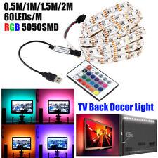 LED RGB Flexible Ruban de Bande Guirlande Lumineuse Lumière USB Décor Lampe FR