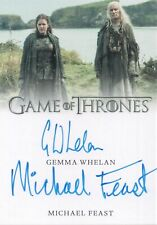 Game of Thrones Inflexions, Gemma Whelan / Michael Feast Dual Autograph Card