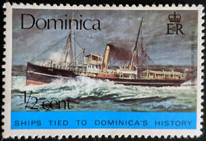 Stamp Dominica SG467 1975 1/2c Historical Ships Yare Mint Hinged