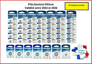 Piles/Cells boutons lithium CR2032/2025/2016 3V Camelion , Free Shipping !!