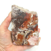 Mexican Crazy Lace Agate Polished A Grade Red Grey Cream 793g 12cm Freestanding