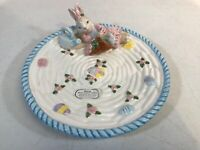 Fitz and Floyd Omnibus Collection Lying Rabbit Candy Dish 1994