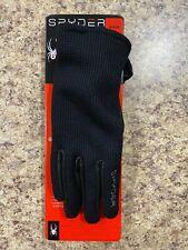 Spyder Leather Palm Gloves Black Size M Medium Stretchable Unisex Brand NEW