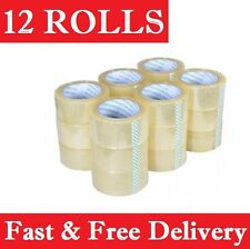 Packing Tape 12 Rolls Clear Sticky Sealing 48mm X 75 Meter Post