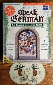 The Learning Company Learn to Speak German 7.0  2CDs  no workbook
