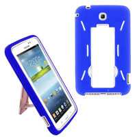 Blue Hybrid Rugged Stand Cover Hard Case for Samsung Galaxy Tab 3 7.0 P3200 T210