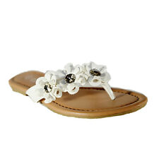 New Womens Flip Flops Cute Style Thongs Flower Flats  Sandals #90