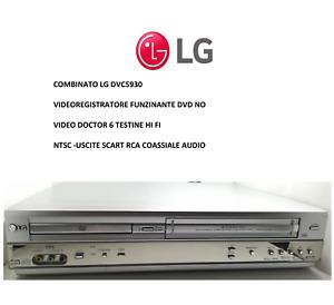 LETTORE VHS VCR COMBO LG DVC 5930 NO TELECOMANDO NON LEGGE DVD ESTETICA OK