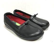 SAS Funk Santolino Slip On Shoes Size 7W Wide Black Leather Tripad Comfort