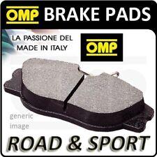 OMP REAR BRAKE PADS FIAT PUNTO EVO 1.3 16V MULTIJET 90HP 09- (OT/8132) FAST ROAD