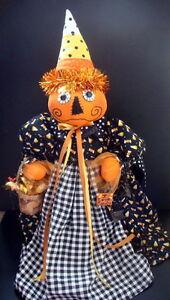 """Halloween Handmade Pumpkin Candy Corn Doll 24"""""""