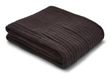 Catherine Lansfield Chunky Knit Throw Charcoal 125cm X 150cm