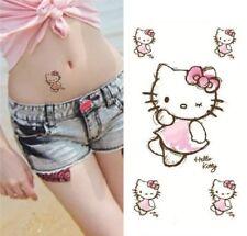 Hello Kitty Waterproof Temporary Tattoos Waist Arm Fake Tattoo Stickers For Girl