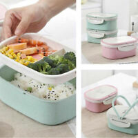 Lunch Box Wheat Straw With Dinnerware Microwave Bento Lunch Box Food Container