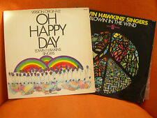 LOT 2 VINYLS 33T – EDWIN HAWKINS SINGERS : OH HAPPY DAY & BLOWIN IN THE WIND