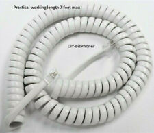AT&T Handset Cord White Trimline CL2909 CL4940 Phone Coil Medium (12 Ft) H4DU-58